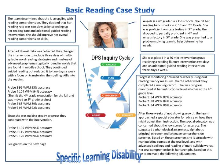 case study1 reading 1 Dyslexia case study (1) a staff member was experiencing difficulties with written work, which his line manager planned to raise with him during their next regular.