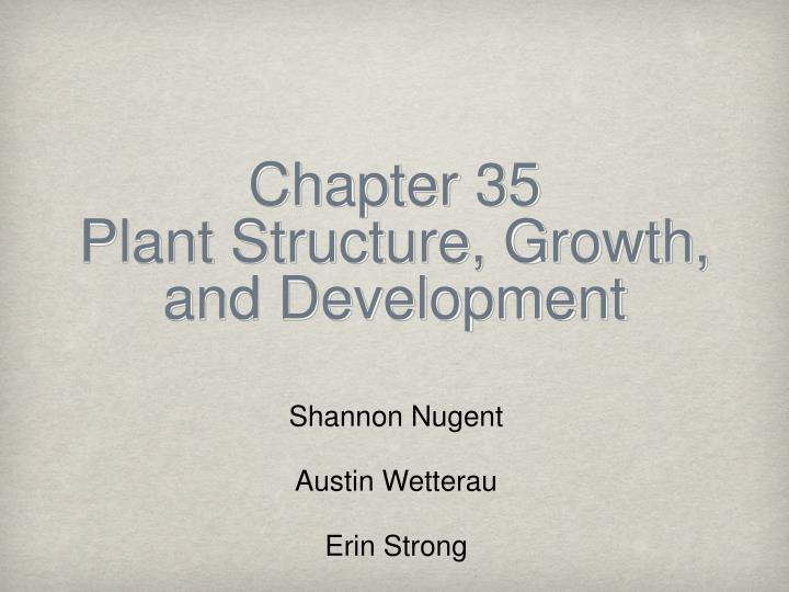 chapter 35 plant structure growth and development n.
