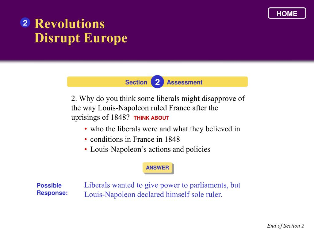 PPT - Nationalist Revolutions Sweep the West , 1789-1900 ...