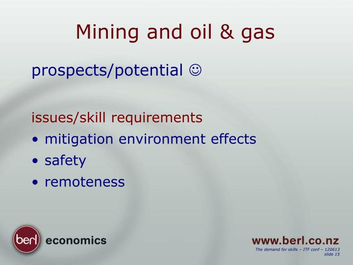 Mining and oil & gas