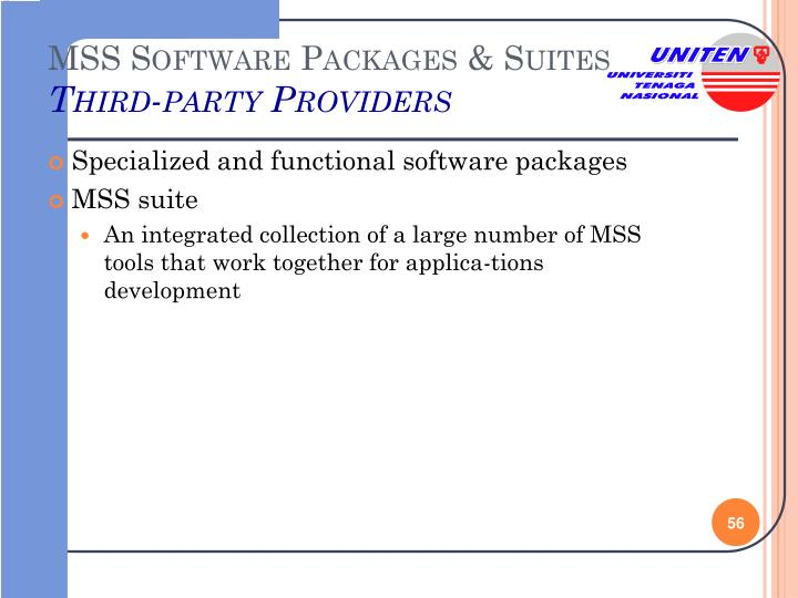 MSS Software Packages & Suites