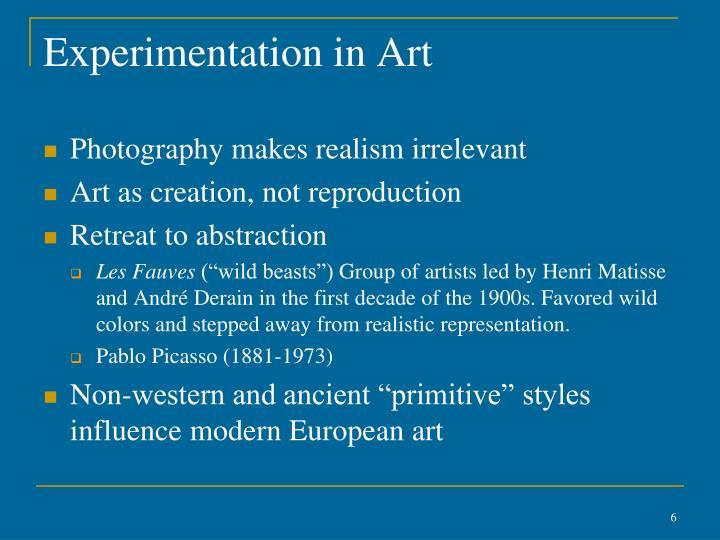 Experimentation in Art