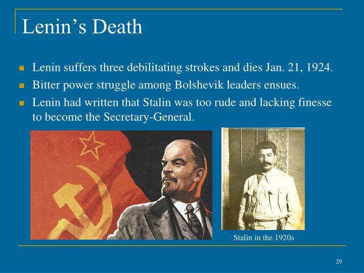 Lenin's Death
