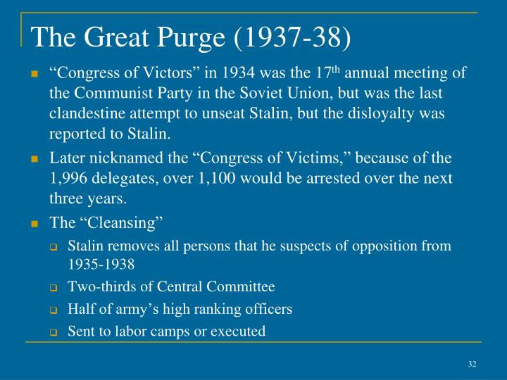The Great Purge (1937-38)
