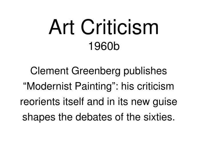 greenberg modernist painting