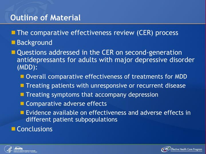 PPT - Second-Generation Antidepressants for Treating Adult ...