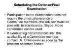 scheduling the defense final examination3