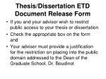 thesis dissertation etd document release form