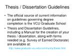 thesis dissertation guidelines