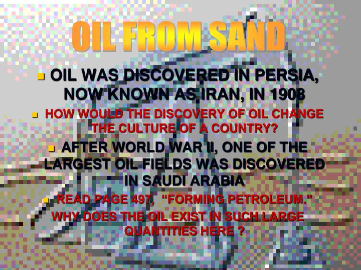 OIL FROM SAND