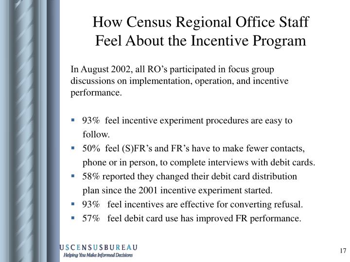 How Census Regional Office Staff