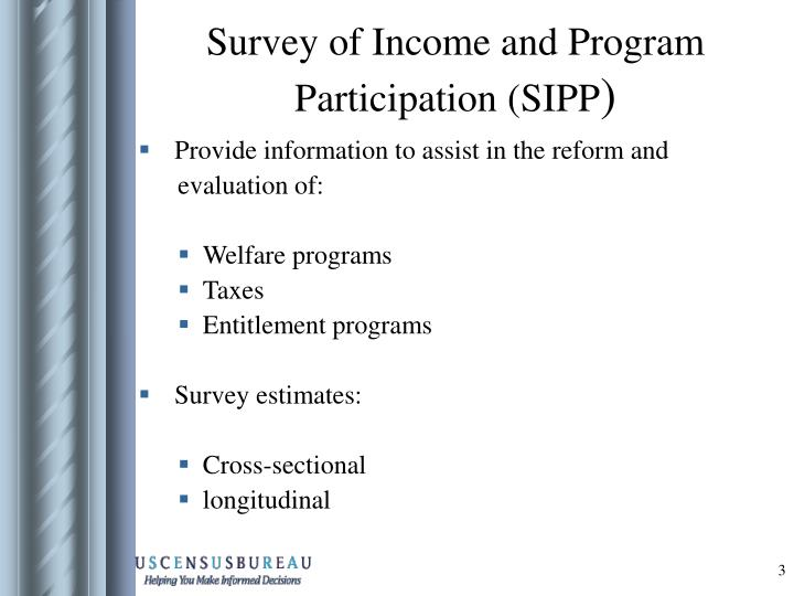 Survey of income and program participation sipp