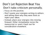 don t let rejection beat you1