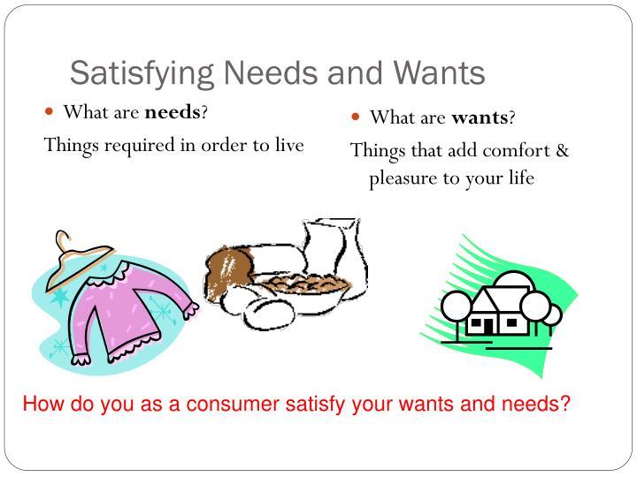 Satisfying Needs and Wants