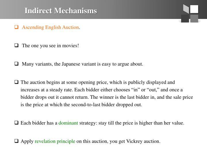 Indirect Mechanisms