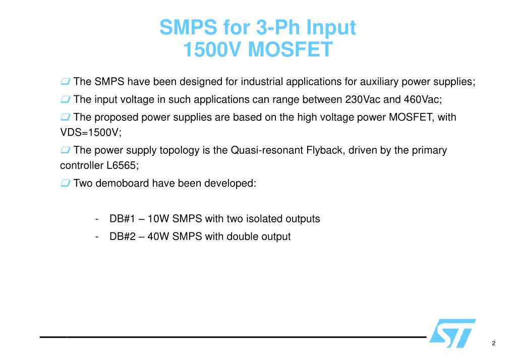 PPT - 1500V MOSFET based DEMOBOARDS PowerPoint Presentation
