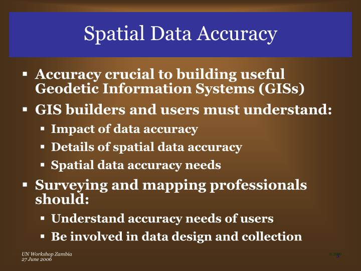 Spatial Data Accuracy