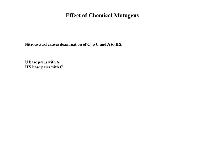 Effect of Chemical Mutagens