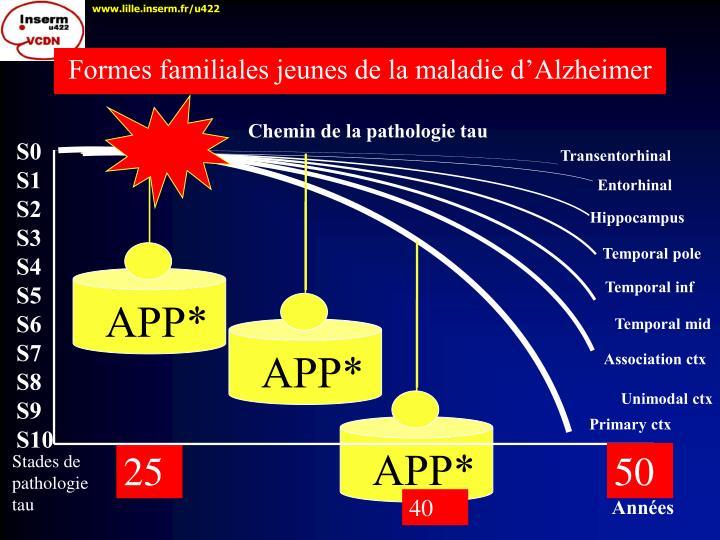 Formes familiales jeunes de la maladie d'Alzheimer