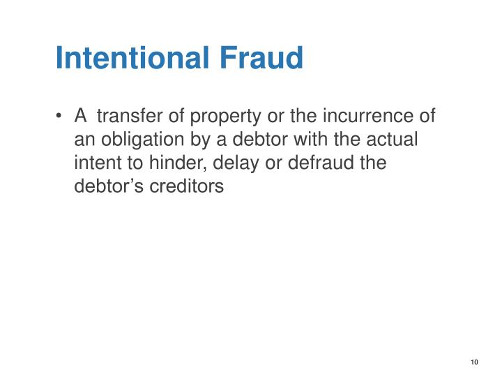 Intentional Fraud