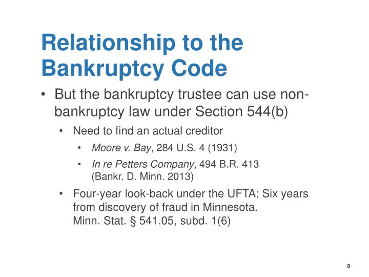 Relationship to the Bankruptcy Code