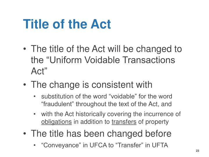 Title of the Act