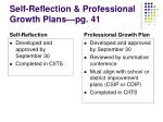 self reflection professional growth plans pg 41