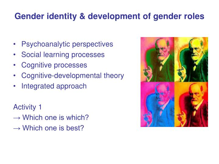 the views of gender identity and the development of gender role Gender identity is the personal sense of one's own gender gender identity can correlate with assigned sex at birth, or can differ from it all societies have a set of gender categories that can serve as the basis of the formation of a person's social identity in relation to other members of society.