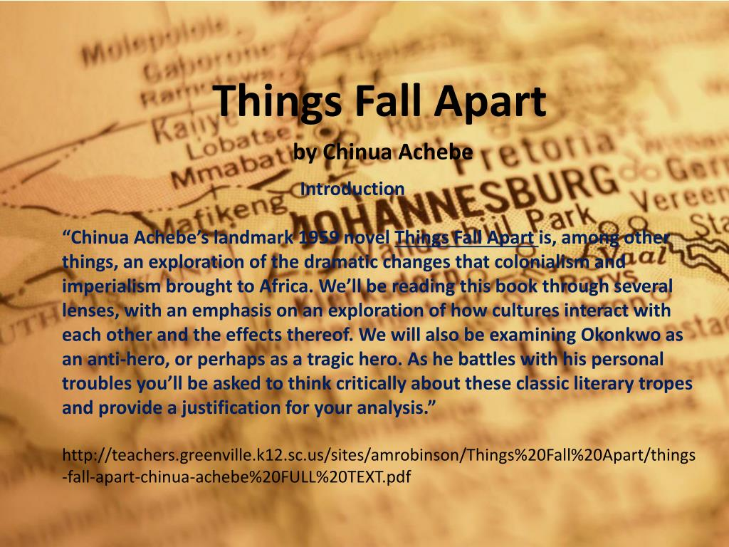 Ppt Things Fall Apart By Chinua Achebe Powerpoint Presentation Free Download Id 6015608