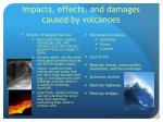 impacts effects and damages caused by volcanoes