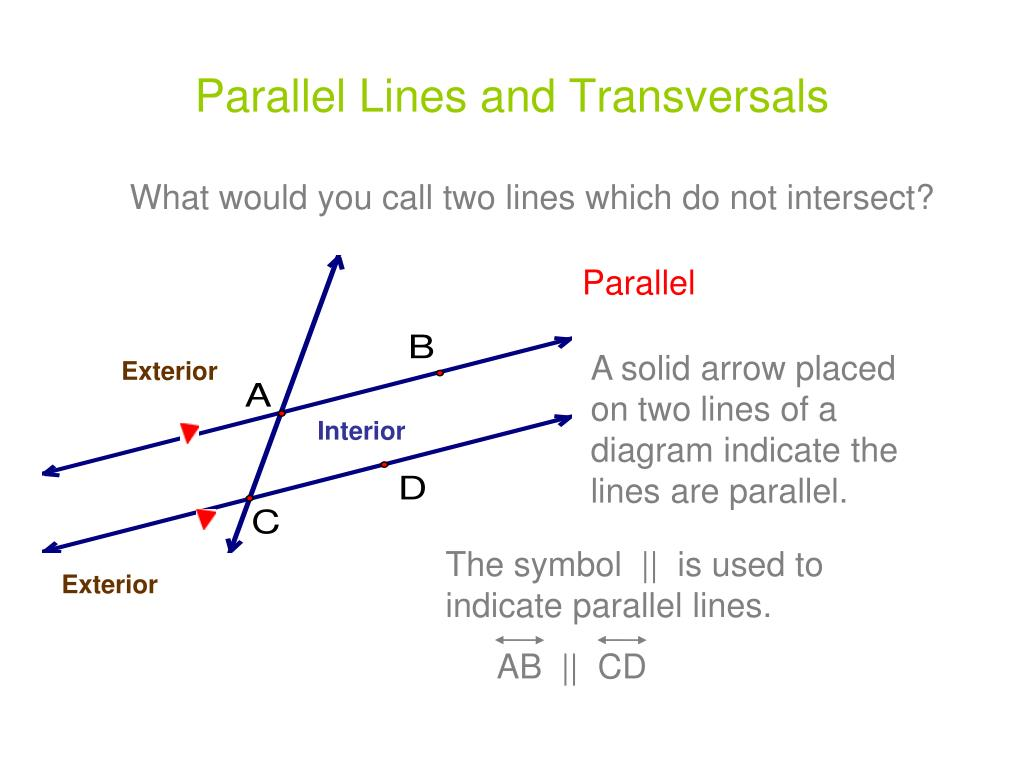 Ppt Parallel Lines And Transversals Powerpoint Presentation Id