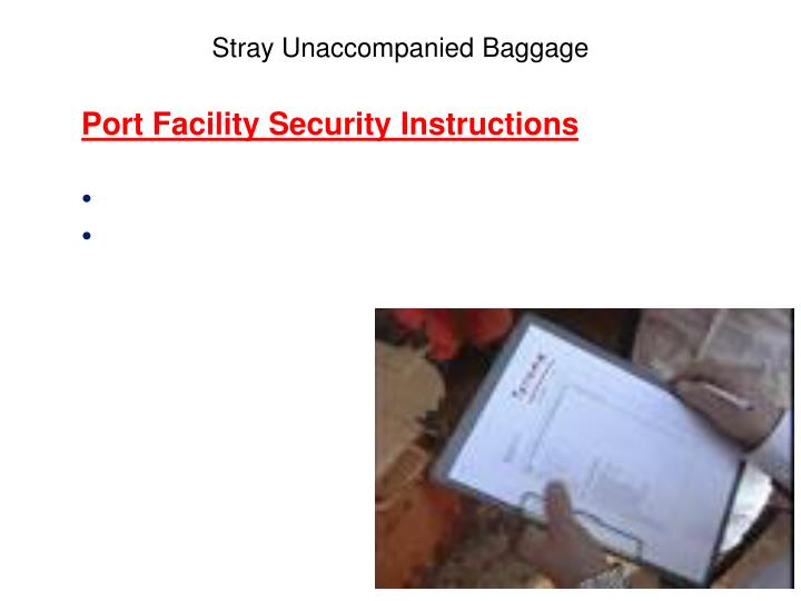 Port Facility Security Instructions