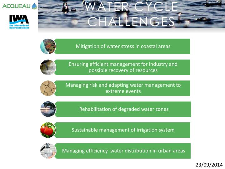 WATER CYCLE CHALLENGES