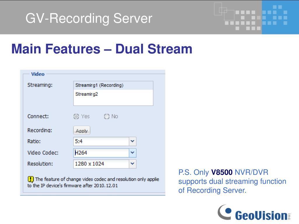 PPT - GV-Recording Server V1 0 0 0 PowerPoint Presentation