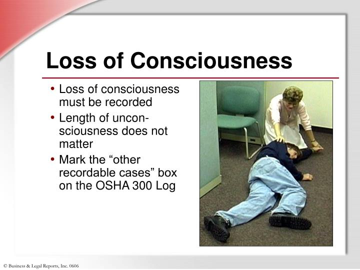 Loss of Consciousness