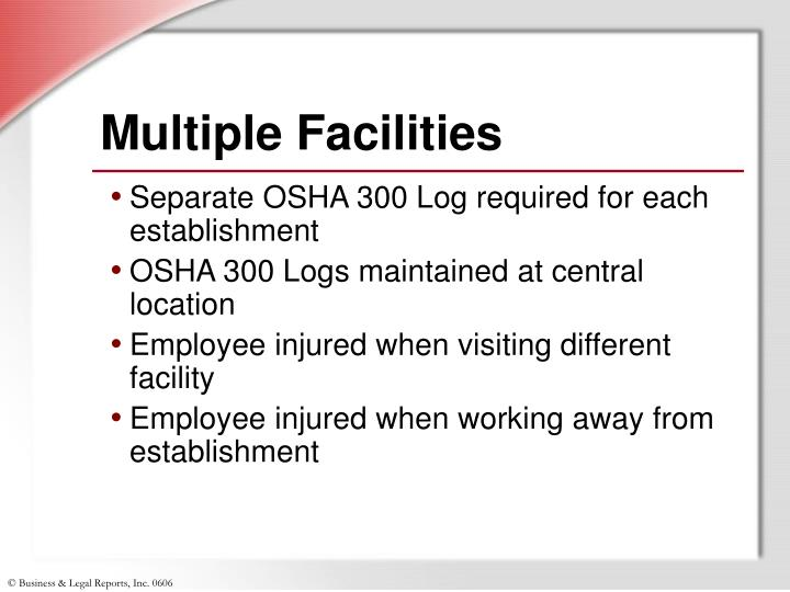 Multiple Facilities