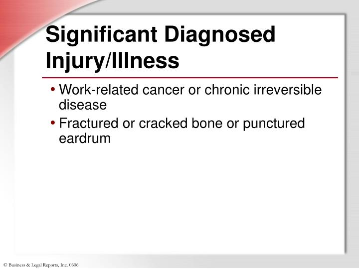 Significant Diagnosed Injury/Illness