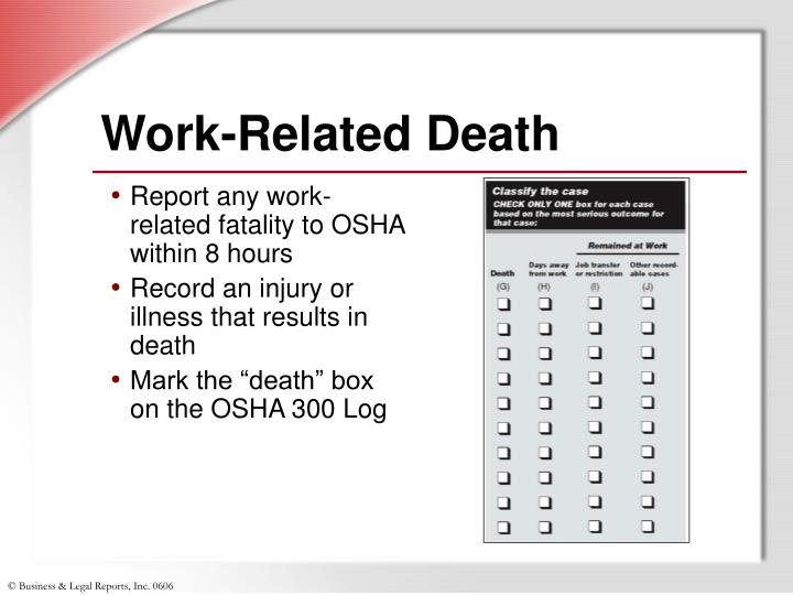 Work-Related Death