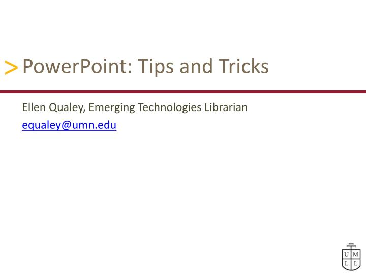 powerpoint tips and tricks n.
