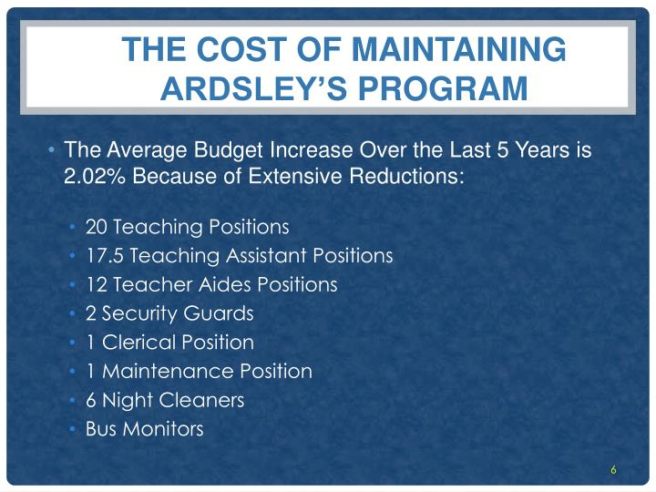 The Cost of Maintaining