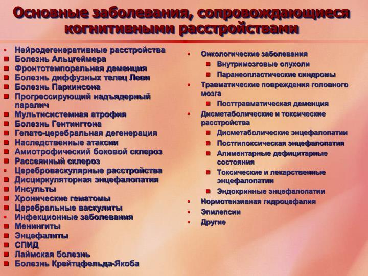 Нейродегенеративные расстройства