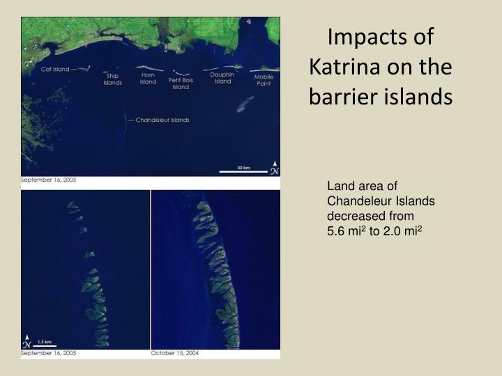Impacts of Katrina on the barrier islands
