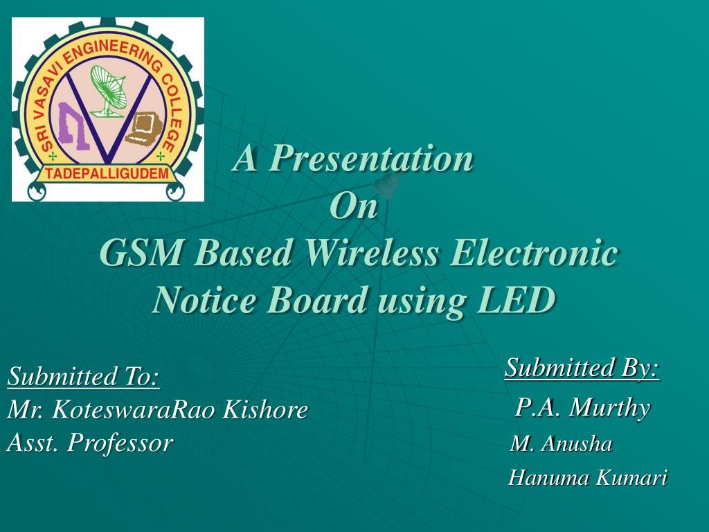 Ppt presentation on wireless accident identification (free.