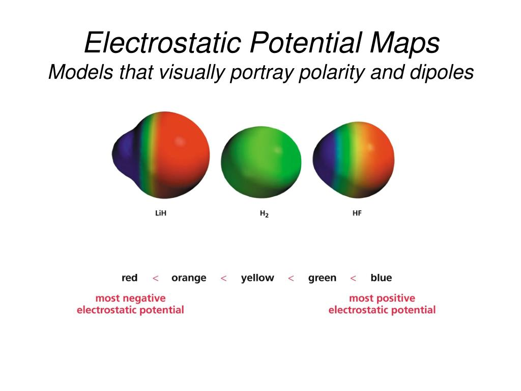 Ppt Electrostatic Potential Maps Models That Visually Portray