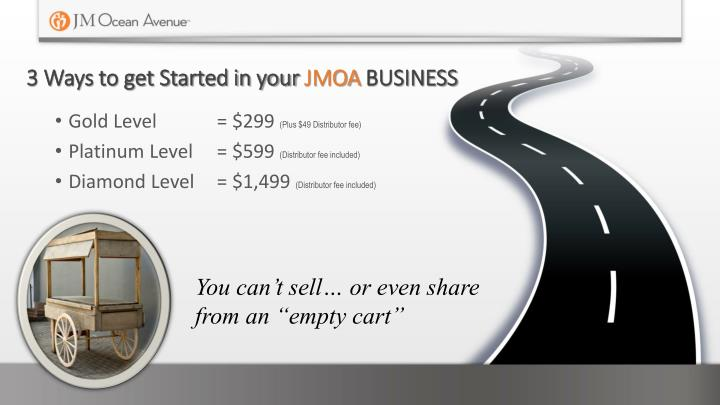 3 ways to get started in your jmoa business