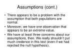 assumptions cont3