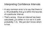 interpreting confidence intervals