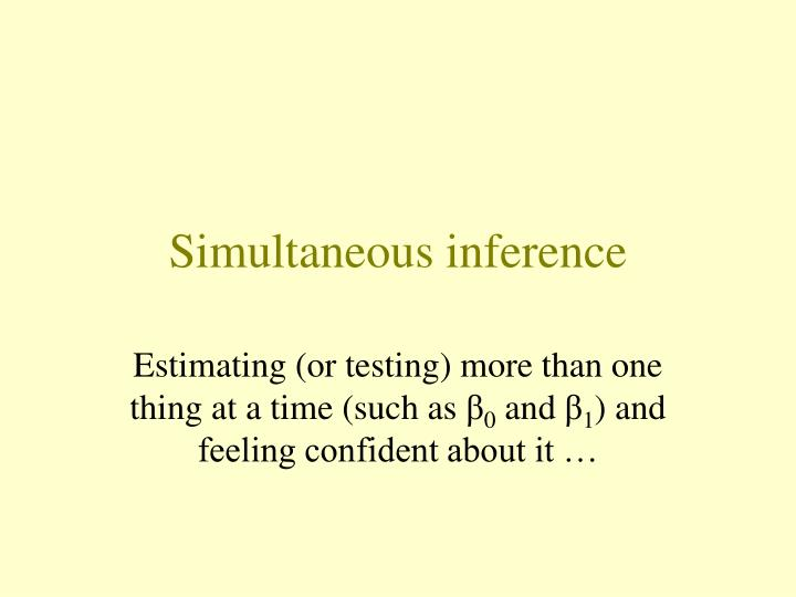 simultaneous inference n.
