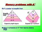 memory problems with a