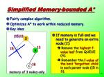 simplified memory bounded a1